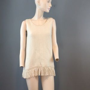 NWT Joie Knit White Tunic Top Size Large